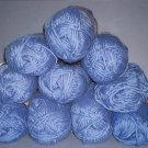 Yarn - 9.5 skeens (3.5 oz each) Medium Blue Gjestal Natural Spun No l  Beautiful