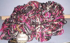 Yarn - 10 skeens 50% Rayon, 36% Cotton, 11% linen 3% nylon. Bright colors by Noro of Japan