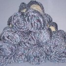 Yarn - 11 skeens Bernat Pirandelle,70% Acryllis, 25 wool & 5% polyester, navy blue varigated