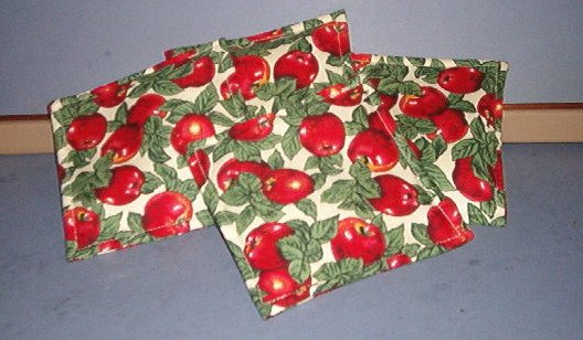 Four Coasters - Apples & leaves - cloth, filled with spices, very nice.