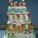 "Tea Light House - Santa arrival on Xman night - Avon - 10""X6.5""X5"" Beautiful"