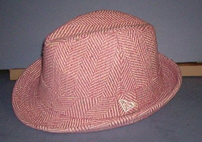 "Hat - Burgundy & beige -  beautifully lined, one size fits all - 2"" brim - 45% polyester, 65% cotton"