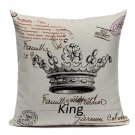 High Quality Crown Decorative Pillow Cushion Cover Vintage Decor Custom  Cushions Home Decor