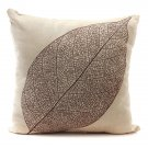 Retro Leaf Pillow Case Linen Cotton Cushion Cover Home Decorations - Leaf