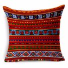 African National Stripe Bohemian Style Geometric Home Decorative Throw Pillow Covers Linen