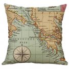 Boat Pillow Case Linen Lovely Printed Cushion Cover Throw Pillows Home Car Decorative Pillows Cover