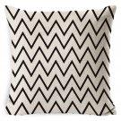 Cotton linen Black White pillow cover  Pillow Case  Home Cushion covers decorative pillow case
