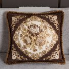 European Embossed Jacquard Floral Decorative Pillow Cushion Cover Case For Sofa Home Decoration