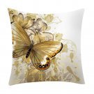 Romantic Beautiful Pillow Cover Butterflies Flowers Cushion Cover for Sofa Home Decor Pillow Case