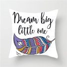 Dreamcatcher Cushion Cover Colored Feather Print Pillowcase Dream Arrow For Home Decor Sofa