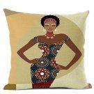 Fashion African Style Sofa Throw Pillows, Cotton Linen Cushion Cover