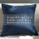 Velvet Cover Pillow Case Solid Color Decor Sofa Throw Pillows Pillow Case Decorative