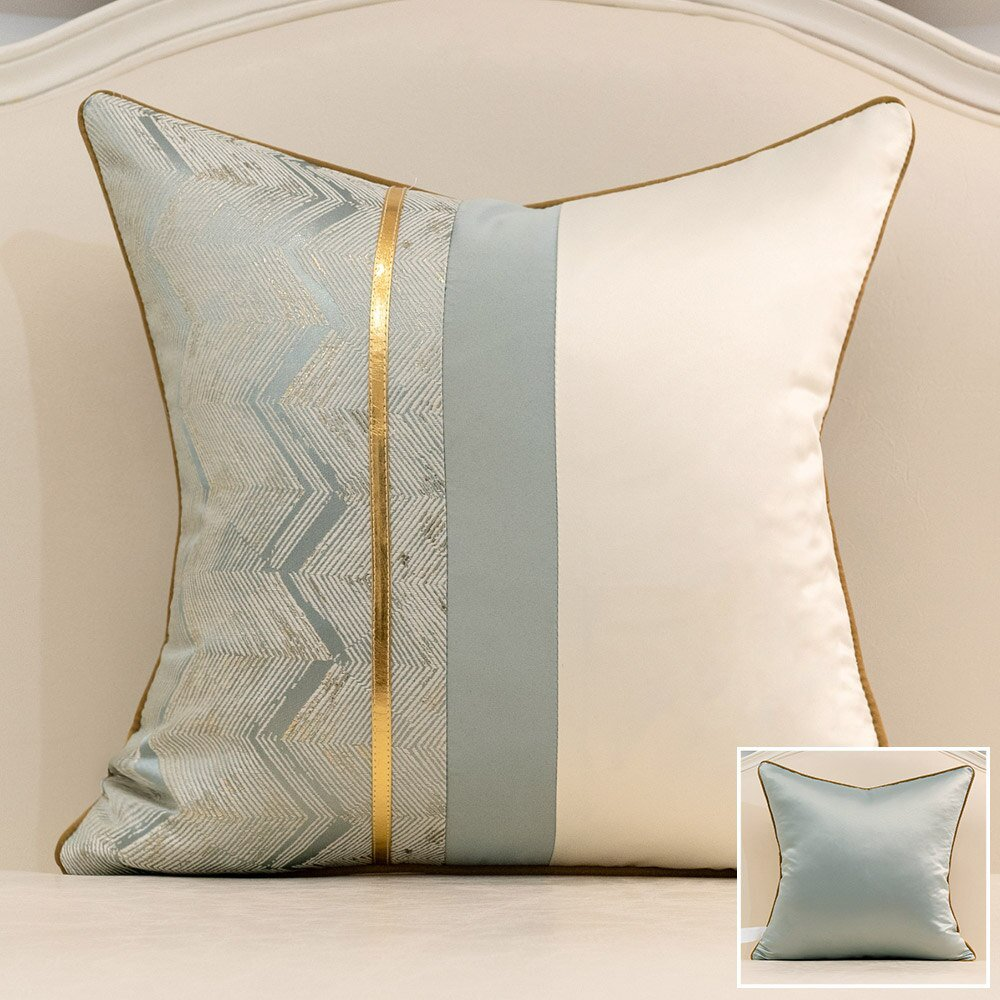 Avigers Modern Patchwork Leather Home Decor Thorw Pillow Cases Geometric Stripe Cushion Covers