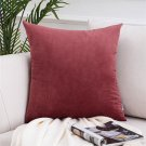 Soft Solid Velvet Pillow Covers Luxury Square Decorative Pillow Covers For Sofa Bed Car Cushion Home