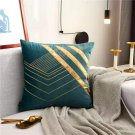 Luxury Velvet Cushion Cover Soft Nordic Style Gold Embroidery Home Decorative Sofa Bed Pillowcase