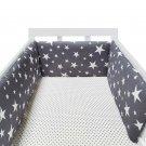 Newborn Crib Bumper Soft Cotton Detachable Zipper Crib Protector & Decoration 1pc Unisex 200cm*30cm
