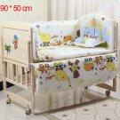 5Pcs/Set Bed Bumper For Newborns 100%Cotton Comfortable Children's Bed Baby Washable Bedding Set