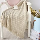 Knitted Throw Travel Blanket  Sofa Throw Blanket Tassels Air  Blanket Diamond Acrylic 130x170cm
