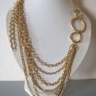 Modern gold chane necklace