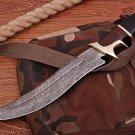 14.5'' inches Handmade Damascus steel hunting Bowie knife