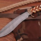 Handmade Damascus steel hunting Bowie knife
