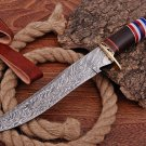 Hand Made Damascus steel hunting Bowie knife