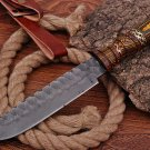 Custom Hand Made Carbon steel hunting Bowie knife