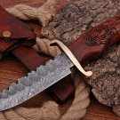 Custom Hand Made Damascus steel hunting Bowie knife