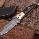 custom handmade damascus steel folding pocket knife