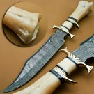Hand forged Damascus steel hunting 15.00 inches Bowie knife