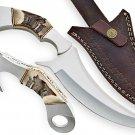 Hand forged custom made d2 tool steel karambit knife