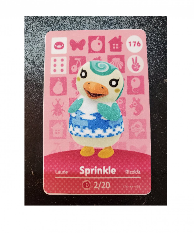176 Sprinkle Amiibo Card for Animal Crossing FAN made