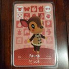 019 Fauna Amiibo Card for Animal Crossing FAN made