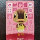 099 Molly Amiibo Card for Animal Crossing FAN made