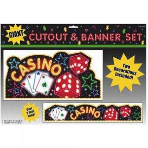 Casino Giant Banner & Cutout Set