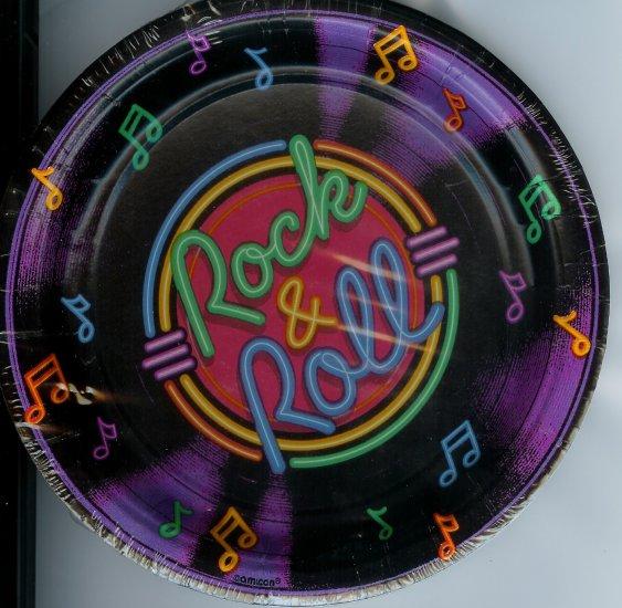 Rock & Roll Dessert Plates