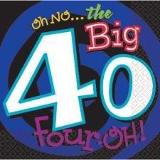 Oh No the Big 40 Beverage Napkins