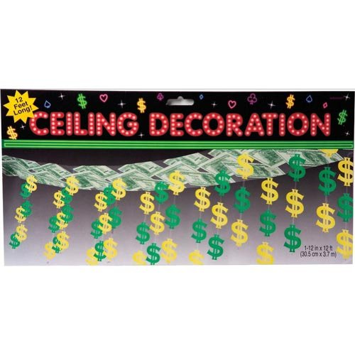 Casino Party Ceiling Decoration