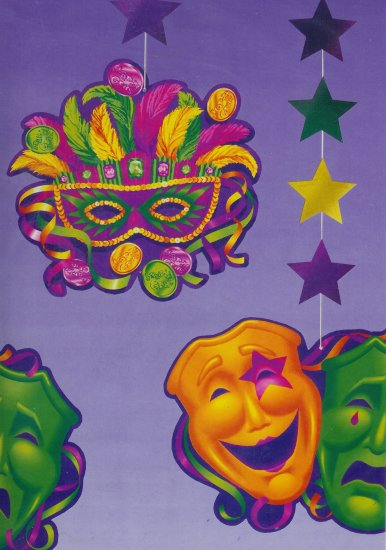 Mardi Gras Cutouts
