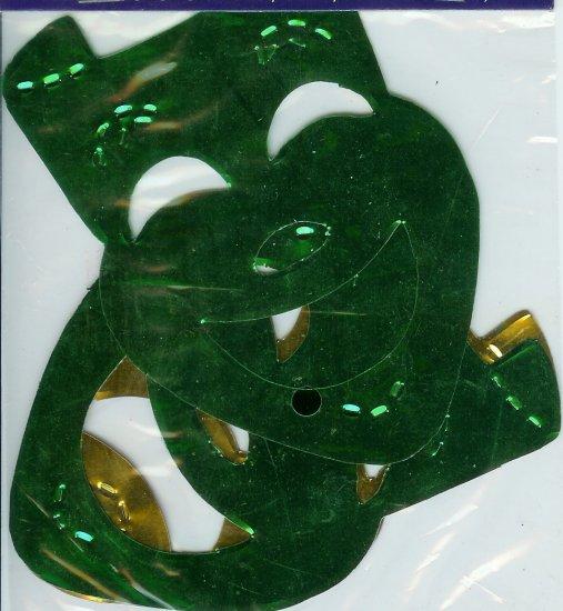 Mardi Gras Mini Metallic Mask Garland