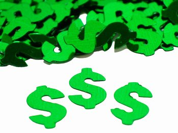 Green Dollar Sign Confetti