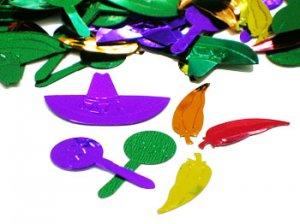 Ole Confetti, Sombreros, Maracas and Chili Peppers