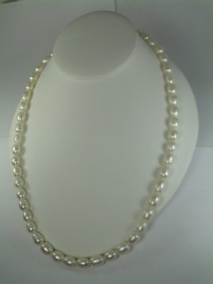 White Fresh Water pearl  Necklace Set RB787