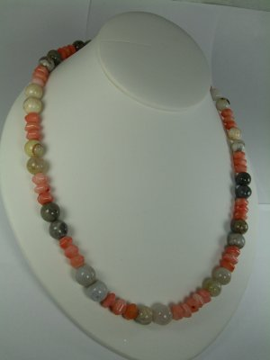 Pink Coral Necklace RB780