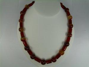 Carnalian Bead Necklace Set RB783