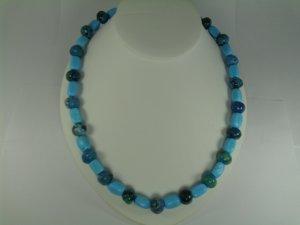 Turquoise & Treated Lapiz Lazuli Necklace set RB784