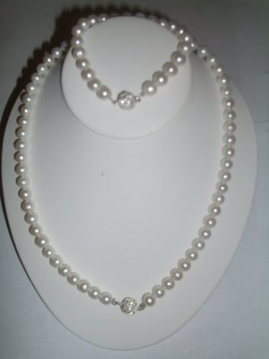 Japanese  Akoya Pearl  Necklace set RB 124