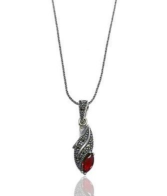 Marcasite Red Neklace