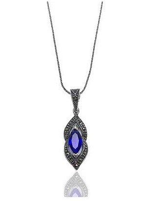 Marcasite Zircon Sapphire Neklace