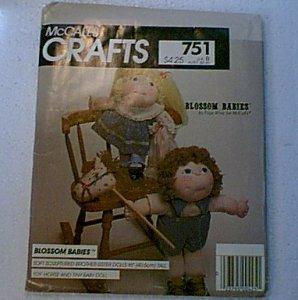 "Blossom Babies 16"" Doll Horse Tiny Doll Pattern McCalls 751 Uncut"